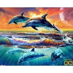 Goblen de diamante - Delfini de mare