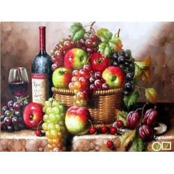 Goblen de diamante - Fructe si vin