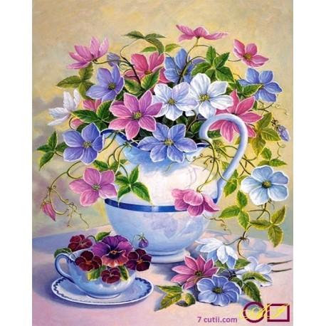 Goblen de diamante - Cana cu flori gingase
