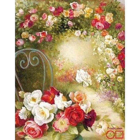 Goblen de diamante -Mirosénia trandafirilor