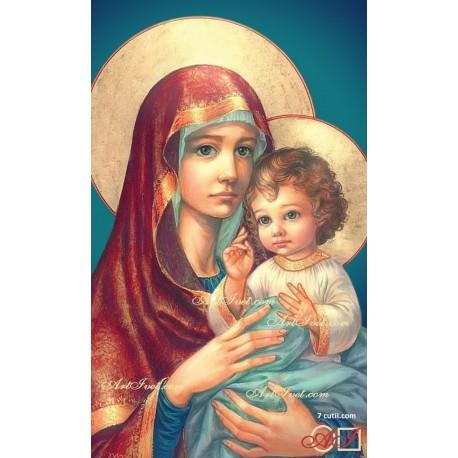 Goblen de diamante - Mama Maria si micul Isus