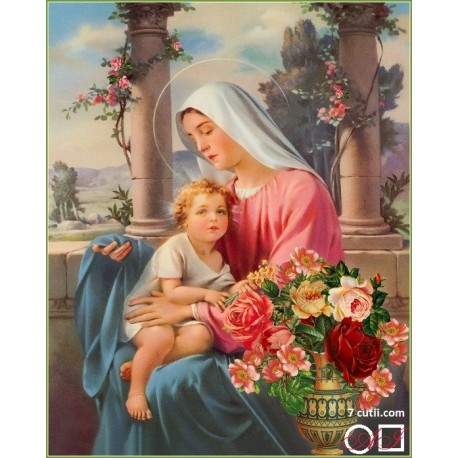 Goblen de diamante - Maria si Isus - Linistea binecuvantata