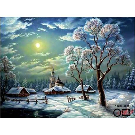 Goblen de diamante - O zi de iarna cu luna