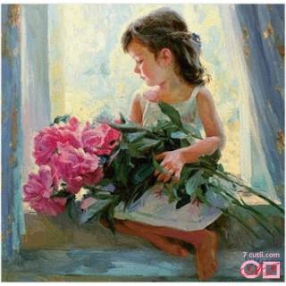 Goblen de diamante - Flori pentru mama mea