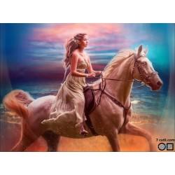 Goblen de diamante - Printesa elfilor si calul ei alb