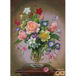 Goblen de diamante - Buchet cu flori de vara