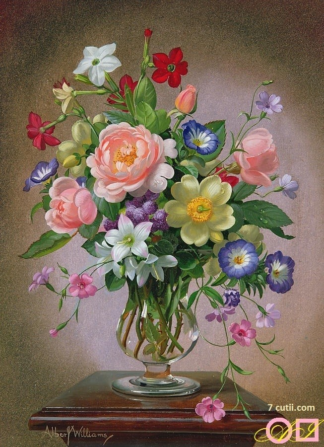 Goblen de diamante - Buchet cu flori de vara: Dimensiuni si tip - 32x24 cm Margele Patrate