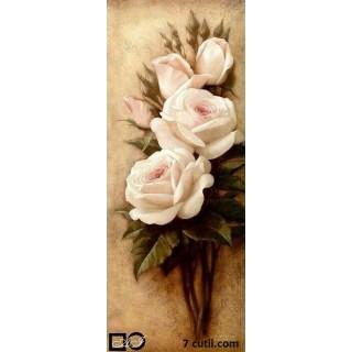 Goblen de diamante - Trandafiri albi