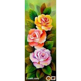 Goblen de diamante - Binedispusa si cu trei trandafiri