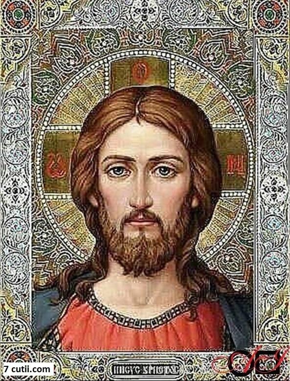 Goblen de diamante - Isus: Dimensiuni si tip - 32x24 cm Margele Patrate