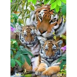 Goblen de diamante - Tigrii in jungla