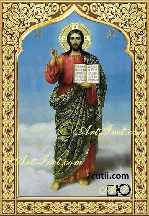 Goblen de diamante - Isus Hristos - Sa fie lumina in zilele Voastre: Dimensiuni si tip - 35x25 cm Margele Patrate