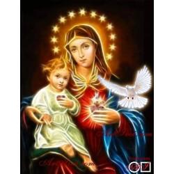 Goblen de diamante - Fecioara si Isus - atinsi de catre sfantul duh
