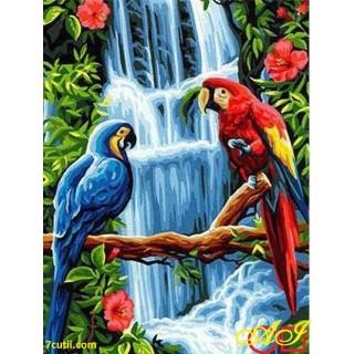 Goblen de diamante - Papagali tropicali