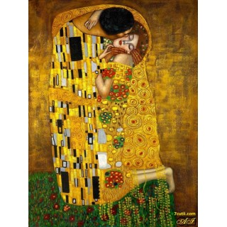 Goblen de diamante - Sarutul - dupa imaginea lui Gustav Klimt