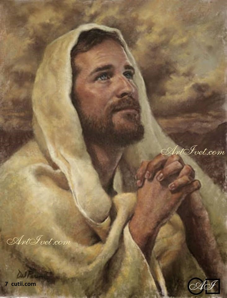 Goblen de diamante - Rugaciunea lui Isus: Dimensiuni si tip - 30x23 cm Margele Patrate