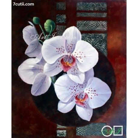 Goblen de diamante - Orchidea alba