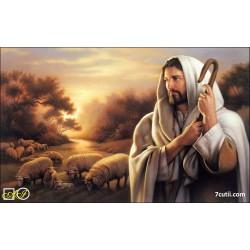 Goblen de diamante Iisus - pastorul nostru