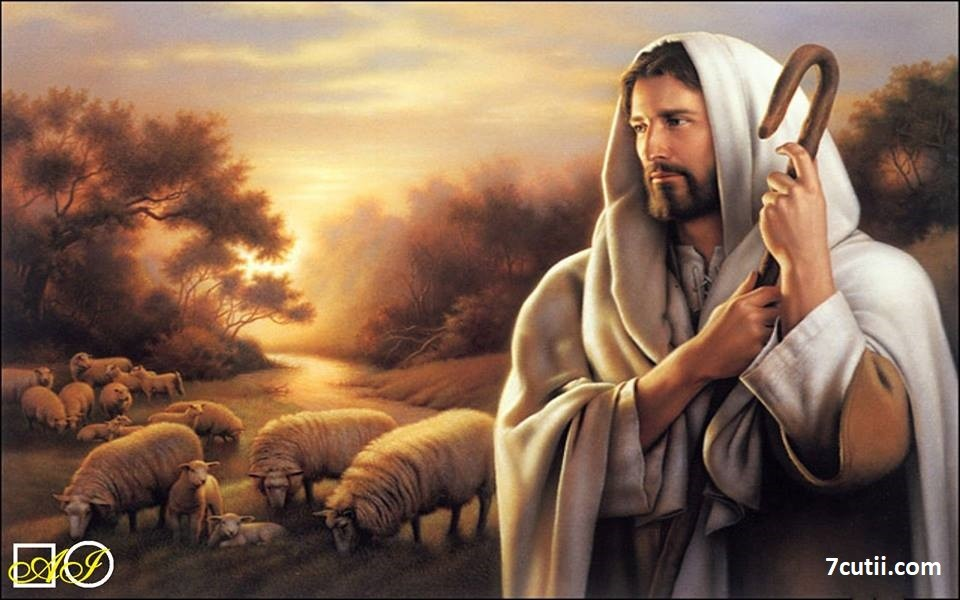 Goblen de  diamante  Iisus - pastorul nostru: Dimensiuni si tip - 36x25 cm Margele Rotunde
