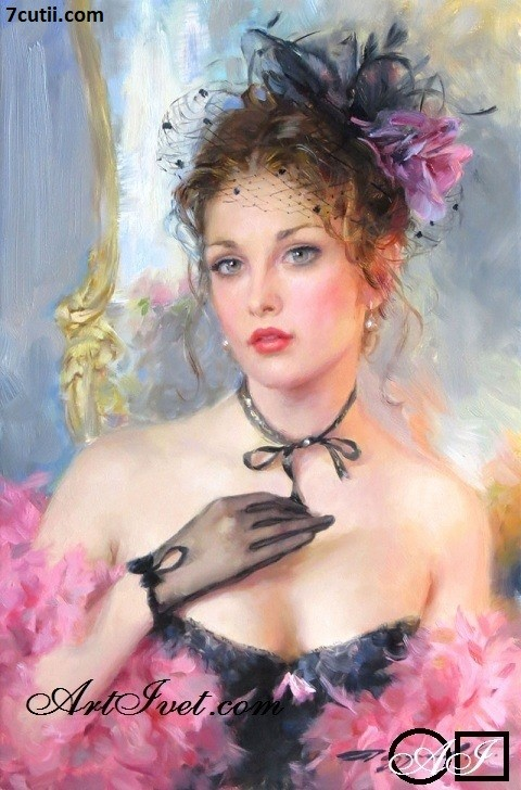 Goblen  de  diamante  Parfum de femeie: Dimensiuni si tip - 36x24 cm Margele Patrate