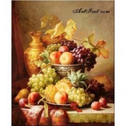 Pictura pe numere - Deliciu cu fructe