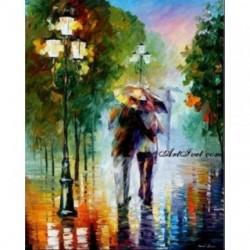 Pictura pe numere - Dragoste in ploaie