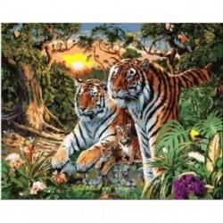 Pictura pe numere - Familia tigrilor