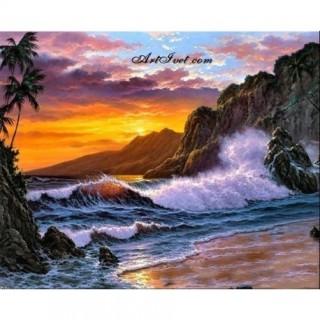 Pictura pe numere - Insula tropicala furtunoasa
