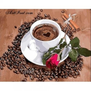 Pictura pe numere - Cafeaua aromata de dimineata