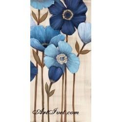 Pictura pe numere - Flori albastre
