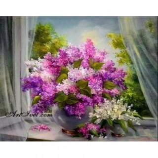 Pictura pe numere - Briza si aroma florilor de liliac