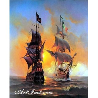 Pictura pe numere – Lupta maritima