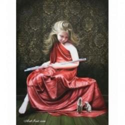 Pictura pe numere - Fata cu flaut