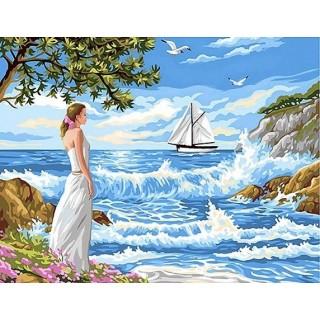 Pictura pe numere - In asteptarea iubitului marinar
