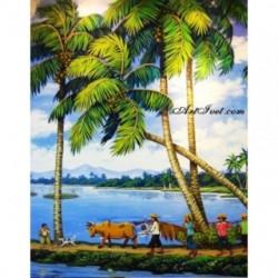Pictura pe numere - Sub palmier