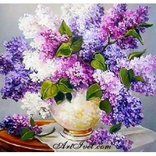 Pictura pe numere - Flori de liliac