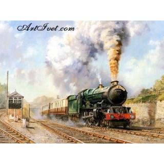 Pictura pe numere - Sosirea trenului