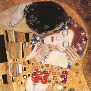 Pictura pe numere - Sarutul din apropiere - dupa imaginea lui Gustav Klimt