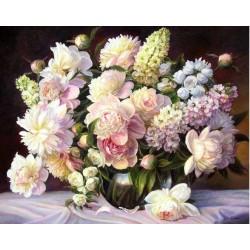 Pictura pe numere - Gingasie cu flori