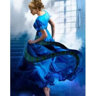 Pictura pe numere - Dans in albastru