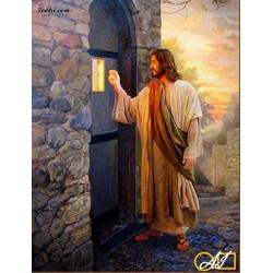 Goblen de diamante Iisus bate la poarta