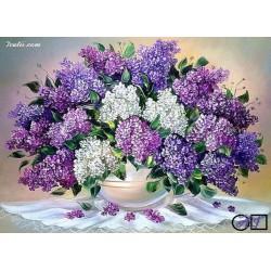 Goblen de diamante Minunatie cu flori de liliac